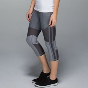 Lululemon Mesh With Me Crops